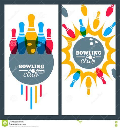 design banner bowling set of bowling banner backgrounds poster flyer or label