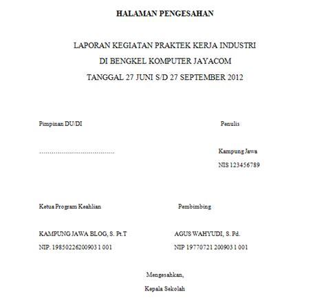 format makalah tulis tangan contoh lembar pengesahan
