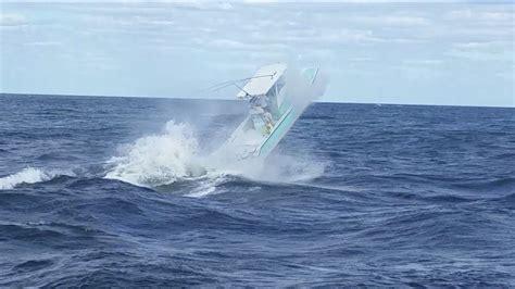 jupiter inlet boat accident small boat gets big air at jupiter inlet youtube