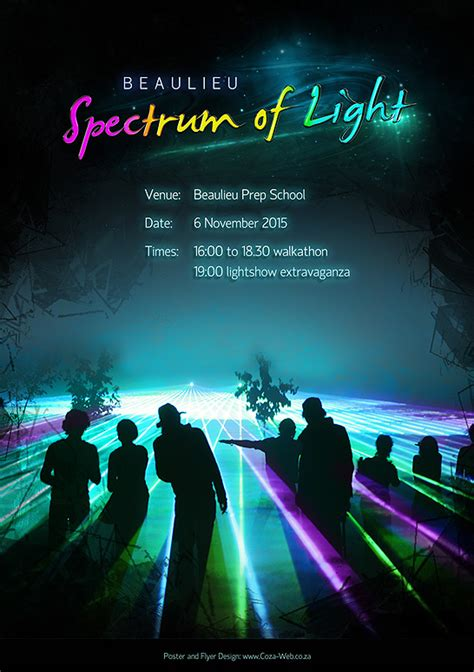 where the light is poster coza web design quality poster design
