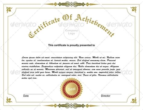 Editable Certificate Of Achievement Template 33 Fabulous Achievement Certificate Templates Designs Free Premium Templates