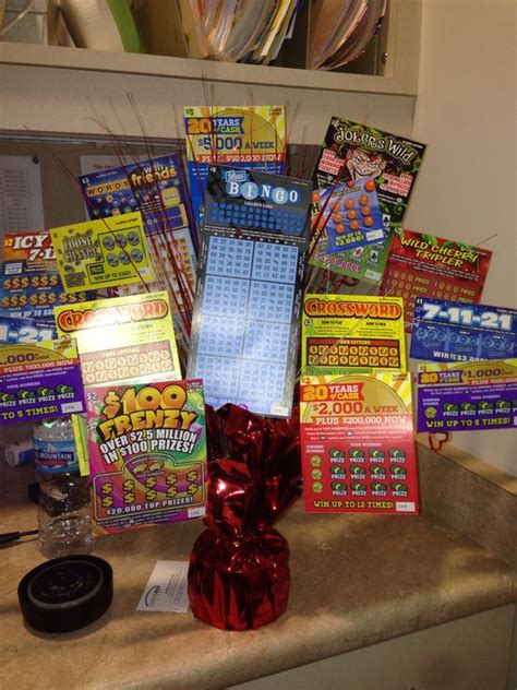 Win The Official Grammy Gift Basket by Lottery Ticket Bouquet For S Day Crafty