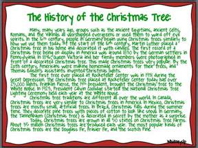 includes full page passages on the history of christmas