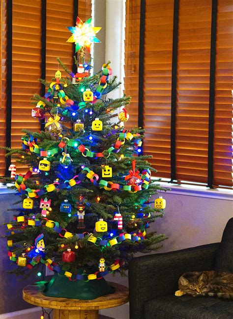 themed tree decorations lego themed tree happiness is
