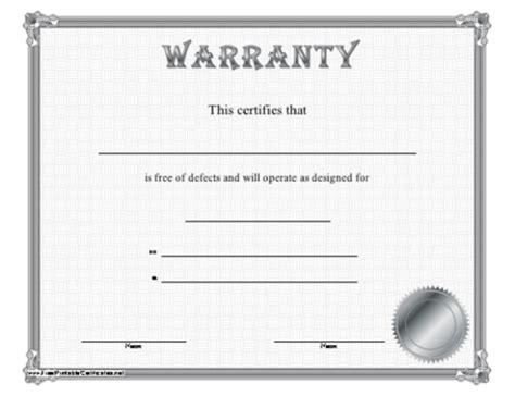 warranty certificate template word 5 printable certificate of authenticity templates doc