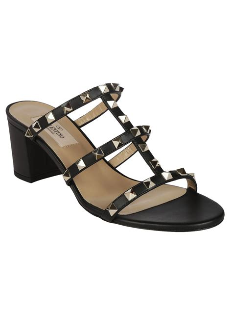 valentino sandals sale valentino valentino rockstud sandals black s