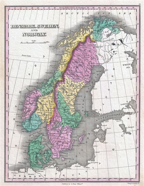 political map of scandinavia large detailed political map of scandinavia 1827