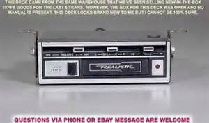 vintage realistic 12 180 3a car auto dash stereo cassette player deck on popscreen