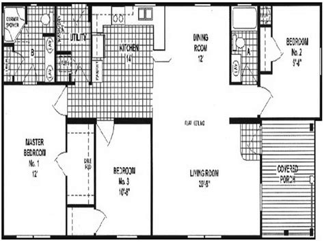double wide mobile homes floor plans bloombety double wide manufactured homes floor plans