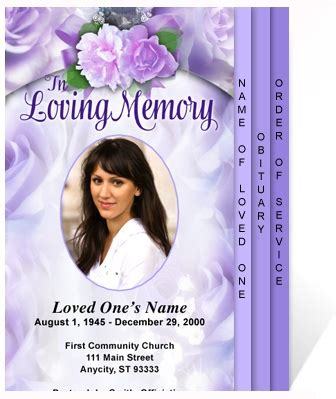 program template beautiful and memorial service program