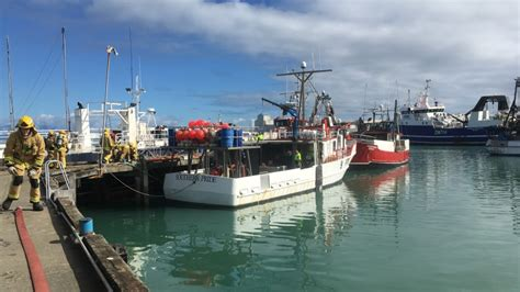 fishing boat fire nz emergency services respond to nelson boat fire 1 news