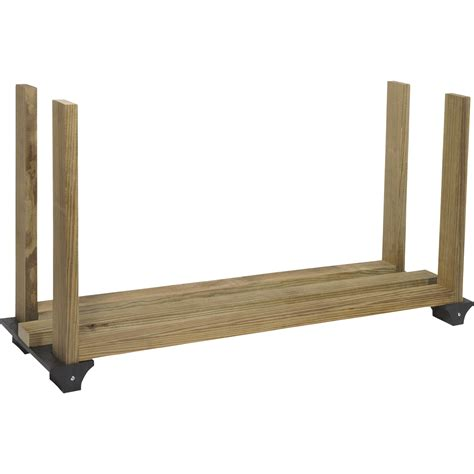 firewood rack 2x4 basics firewood rack bracket kit model 90142mi