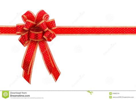 red and gold gift bow and ribbon royalty free stock photos