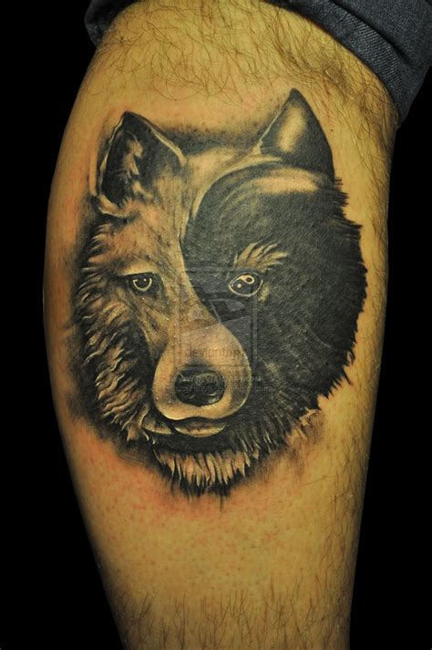 yin and yang tattoo yin yang wolf tattooimages biz