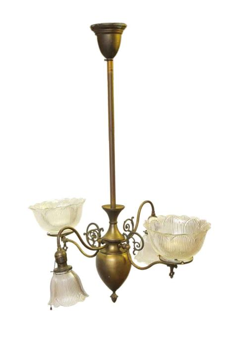 gas chandelier antique gas chandelier from late 1800s olde things