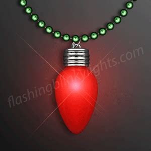 lighted bulb necklace light up necklaces by flashingblinkylights com