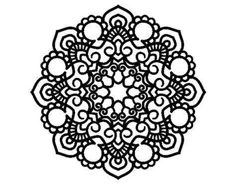 imagenes de mandalas lindos para colorear dibujo de mandala reuni 243 n para colorear dibujos net