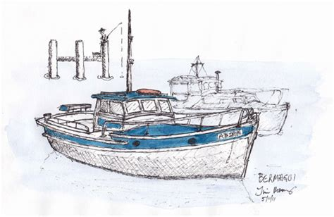 fishing boat sketch fishing boat sketches