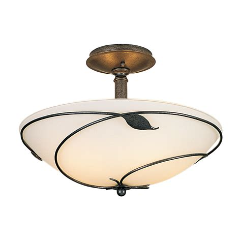 buy the forged leaves semi flush ceiling light large