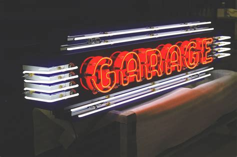 Garage Sign by Image Gallery Neon Auto Signs