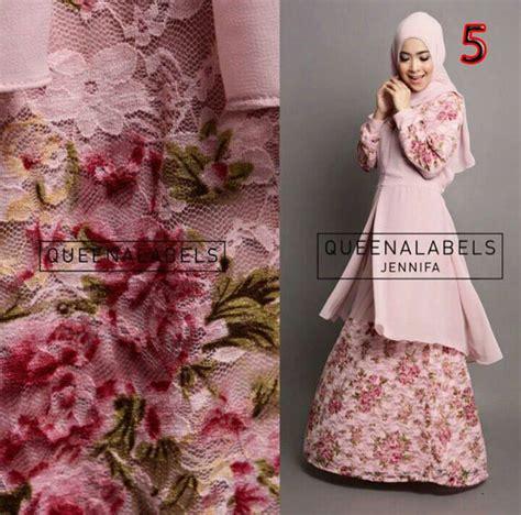 Fitri Flower Tosca Set 4in1 by Jennifa 5 Baju Muslim Gamis Modern
