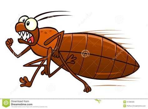 bed bug cartoon running bedbug stock vector image 51486089
