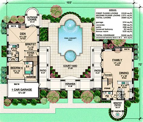 House Plans With Covered Lanai House Design Plans Lanai House Plans