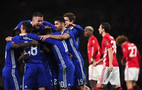 chelsea manchester united chelsea reach fa cup semi final after beating manchester