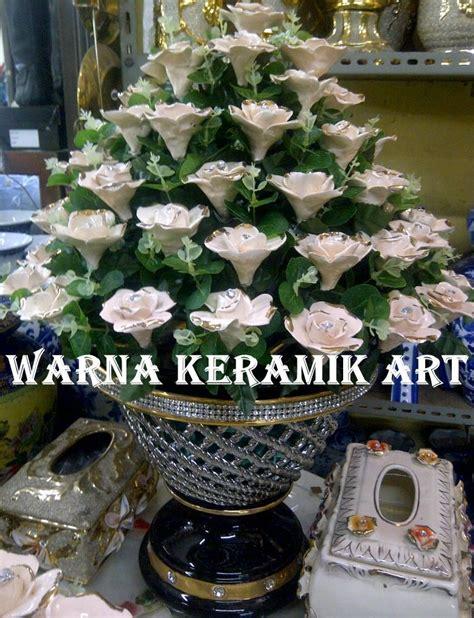 Vas Bunga Keramik Bambu jual bunga vas hitam besar harga murah jakarta oleh