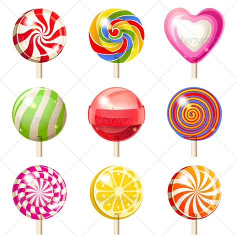 lollipops set graphicriver