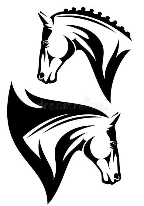 clipart cavalli testa di cavallo illustrazione vettoriale illustrazione