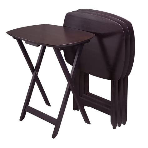 folding oversized wood tray table in espresso shop winsome wood 23 5 in x 17 in wood espresso