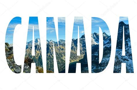 4 Letter Words Made From Glove background with word canada letters were made from