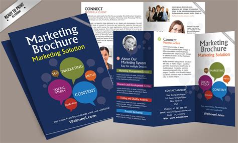 advertising brochure template 14 marketing brochure design template freedownload