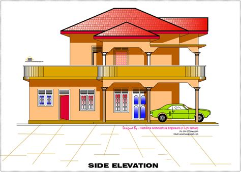 house design in 2d 2d elevation and floor plan of 2633 sq feet architecture