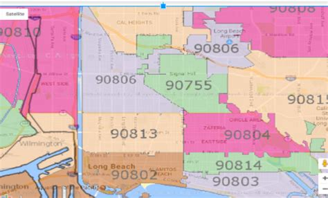 zip code map long beach environmental injustice in the long beach area an