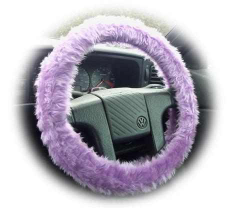 lilac jeep lilac fuzzy steering wheel cover faux fur furry fluffy car