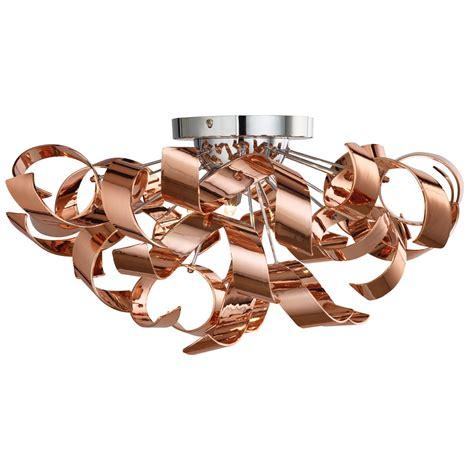 copper ceiling light fixtures lyndsay 3 light semi flush ceiling fixture copper