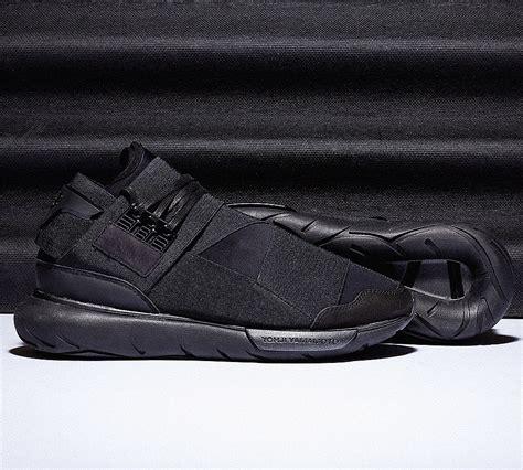 Premium Adidas Y3 Qasa High Black White 1 y3 qasa high trainer black footasylum
