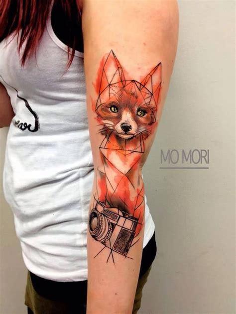 watercolor animal tattoo 25 best ideas about geometric fox on fox
