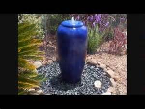 Urn Vase Cobalt Blue Vietnamese Pot Fountain Youtube