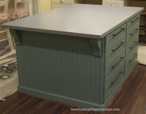 build  painted mdf countertop sawdust girl