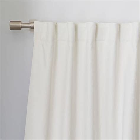 cotton linen curtains linen cotton curtain ivory west elm