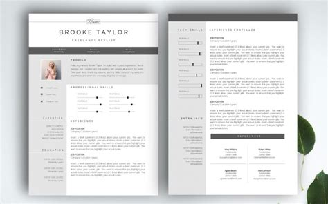 2 page resume template the best cv resume templates 50 exles design shack
