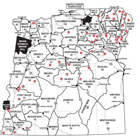 map of oregon units eastern oregon unit map oregon seasons