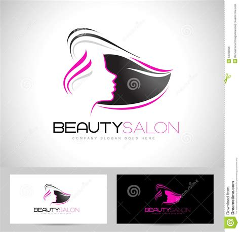 salon logo templates hair salon logo stock vector image 53386006