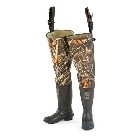 s ducks unlimited 174 3 ply hip waders with cleated