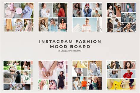 fashion mood board template instagram fashion mood board instagram templates