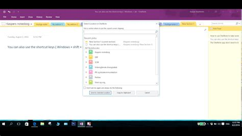 onenote windows 10 tutorial how to take a screenshot in windows 10 using onenote