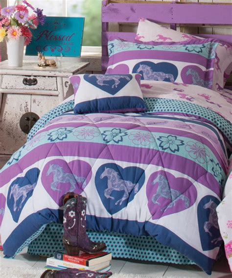 pony comforter girls horse bedding cowgirl pony bedding sets